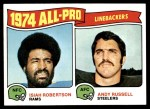1975 Topps #219   -  Isiah Roberston / Andy Russell All-Pro Linebackers Front Thumbnail