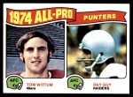1975 Topps #224   -  Tom Wittum / Ray Guy All-Pro Punters  Front Thumbnail