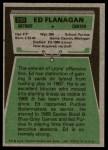 1975 Topps #250  Ed Flanagan  Back Thumbnail