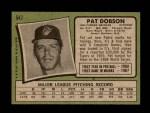 1971 Topps #547  Pat Dobson  Back Thumbnail