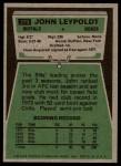 1975 Topps #273  John Leypoldt  Back Thumbnail