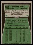 1975 Topps #281  Bobby Bell  Back Thumbnail