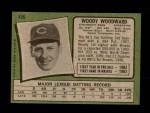 1971 Topps #496  Woody Woodward  Back Thumbnail