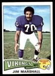1975 Topps #157  Jim Marshall  Front Thumbnail