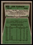 1975 Topps #158  Jim Turner  Back Thumbnail