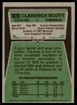 1975 Topps #164  Clarence Scott  Back Thumbnail