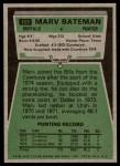 1975 Topps #169  Marv Bateman  Back Thumbnail
