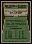 1975 Topps #188  Essex Johnson  Back Thumbnail