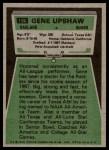 1975 Topps #190  Gene Upshaw  Back Thumbnail