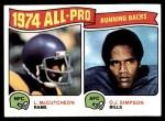 1975 Topps #209   -  O.J. Simpson / Lawrence McCutcheon All-Pro Running Backs Front Thumbnail