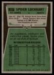 1975 Topps #227  Spider Lockhart  Back Thumbnail