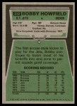 1975 Topps #232  Bobby Howfield  Back Thumbnail
