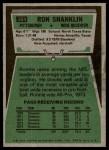 1975 Topps #264  Ron Shanklin  Back Thumbnail