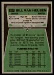 1975 Topps #267  Bill Van Heusen  Back Thumbnail