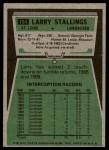 1975 Topps #154  Larry Stallings  Back Thumbnail