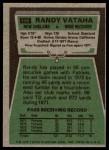 1975 Topps #156  Randy Vataha  Back Thumbnail