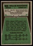 1975 Topps #166  Willie Rodgers  Back Thumbnail