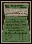 1975 Topps #167  Doug Swift  Back Thumbnail