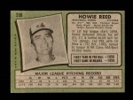 1971 Topps #398  Howie Reed  Back Thumbnail