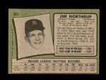 1971 Topps #265 BLOB Jim Northrup  Back Thumbnail