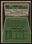 1975 Topps #189  Bob Lee  Back Thumbnail