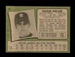 1971 Topps #18   -  Norm Miller    Back Thumbnail