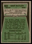 1975 Topps #194  Skip Butler  Back Thumbnail
