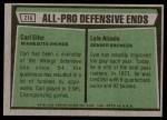 1975 Topps #216   -  Carl Eller / Lyle Alzado All-Pro Defensive Ends Back Thumbnail