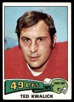 1975 Topps #226  Ted Kwalick  Front Thumbnail