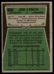 1975 Topps #254  Jim Lynch  Back Thumbnail