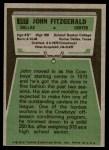 1975 Topps #257  John Fitzgerald  Back Thumbnail