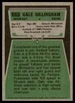1975 Topps #270  Gale Gillingham  Back Thumbnail