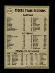 1971 Topps #336   Tigers Team Back Thumbnail