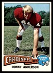 1975 Topps #292  Donny Anderson  Front Thumbnail