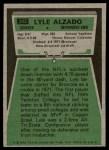 1975 Topps #322  Lyle Alzado  Back Thumbnail
