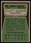 1975 Topps #372  Jerome Barkum  Back Thumbnail
