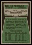 1975 Topps #373  Ed Podolak  Back Thumbnail