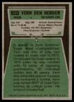 1975 Topps #404  Vern Den Herder  Back Thumbnail