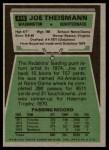 1975 Topps #416  Joe Theismann  Back Thumbnail