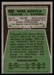 1975 Topps #417  Mike Boryla  Back Thumbnail