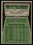 1975 Topps #285  Lee Roy Jordan  Back Thumbnail