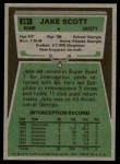 1975 Topps #291  Jake Scott  Back Thumbnail