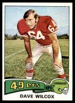 1975 Topps #331  Dave Wilcox  Front Thumbnail