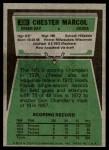 1975 Topps #330  Chester Marcol  Back Thumbnail