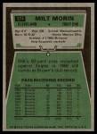 1975 Topps #374  Milt Morin  Back Thumbnail