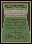 1975 Topps #394  Dave Green  Back Thumbnail