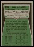 1975 Topps #407  Bob Adams  Back Thumbnail