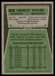 1975 Topps #20  Charley Taylor  Back Thumbnail