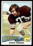 1975 Topps #23  Doug Dieken  Front Thumbnail