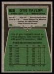 1975 Topps #75  Otis Taylor  Back Thumbnail